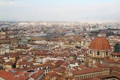 佛罗伦萨开头全景从钟楼塔的 图库摄影