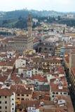 佛罗伦萨开头全景从钟楼塔的 免版税库存照片