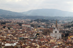 佛罗伦萨开头全景从钟楼塔的 库存照片
