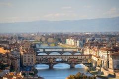 佛罗伦萨意大利全景托斯卡纳视图 免版税库存图片
