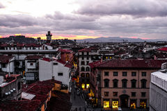 佛罗伦萨意大利日落托斯卡纳 库存图片