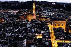 佛罗伦萨意大利日落托斯卡纳 库存照片