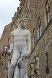 佛罗伦萨意大利海王星雕象 免版税库存图片