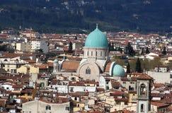 佛罗伦萨意大利犹太教堂 库存照片