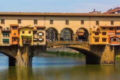 佛罗伦萨意大利ponte vecchio 库存照片