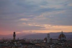 佛罗伦萨日落视图 免版税库存图片
