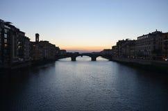 佛罗伦萨日落 库存图片