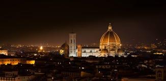 佛罗伦萨晚上 库存图片
