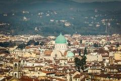 佛罗伦萨极大的犹太教堂 库存照片