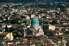 佛罗伦萨极大的犹太教堂 免版税库存图片