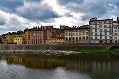 佛罗伦萨河 库存照片