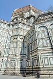 佛罗伦萨的主要吸引力 城市的标志 圣玛丽亚del菲奥雷大教堂的穹顶装饰与 免版税库存图片