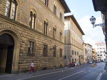 佛罗伦萨的历史的市中心-一个普遍的地方-佛罗伦萨/意大利- 2017年9月12日 库存照片