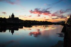 佛罗伦萨的反射 库存图片