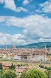 佛罗伦萨的如被看见从Piazzale米开朗基罗,意大利 库存图片