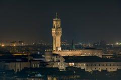 佛罗伦萨的自治市的城镇厅 库存照片