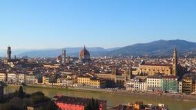 佛罗伦萨看法从Piazzale米开朗基罗的 股票录像