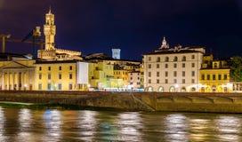 佛罗伦萨看法在亚诺河的 库存图片