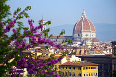 佛罗伦萨看法日出时间的 免版税库存图片