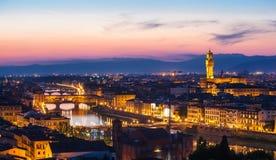 佛罗伦萨看法从米开朗基罗的小山的 免版税库存照片