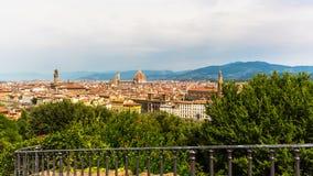 佛罗伦萨看法从Piazzale米开朗基罗的 图库摄影