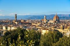 佛罗伦萨米开朗基罗piazzale视图 库存图片
