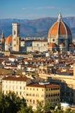 佛罗伦萨米开朗基罗piazzale视图 库存照片