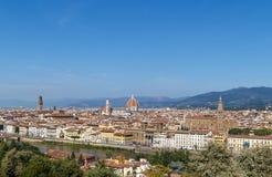 佛罗伦萨米开朗基罗piazzale视图 免版税库存照片
