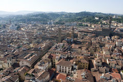 佛罗伦萨红色屋顶 免版税库存图片