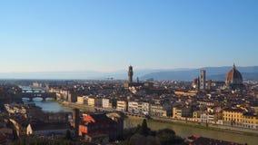 佛罗伦萨美丽如画的鸟瞰图日落的 影视素材