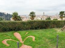 佛罗伦萨美好的全景从米开朗基罗广场的 图库摄影