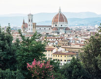 佛罗伦萨美好的都市风景有大教堂的圣玛丽亚del F 免版税图库摄影