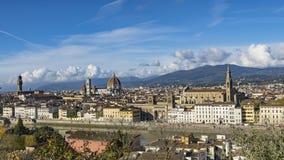 佛罗伦萨美好的鸟瞰图从Piazzale米开朗基罗的 免版税库存图片