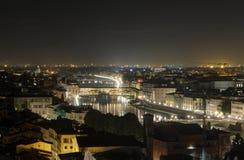 佛罗伦萨老桥梁 库存照片