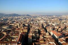 佛罗伦萨老镇都市风景从上面 库存图片