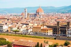 佛罗伦萨都市风景视图 库存图片