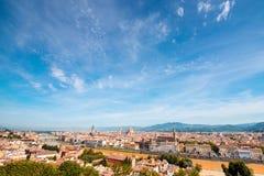 佛罗伦萨都市风景视图 库存照片