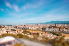 佛罗伦萨都市风景视图 免版税图库摄影
