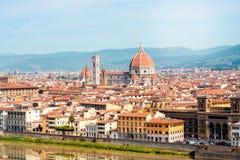佛罗伦萨都市风景视图 免版税库存图片