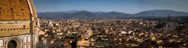 佛罗伦萨风景从Giotto ` s钟楼的 免版税库存图片
