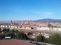 佛罗伦萨鸟瞰图从Piazzale米开朗基罗的 图库摄影