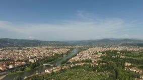 佛罗伦萨鸟瞰图美好的都市风景有大教堂的圣玛丽亚del菲奥雷,佛罗伦萨,托斯卡纳,意大利 库存照片