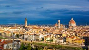 佛罗伦萨鸟瞰图 库存照片