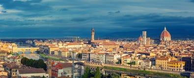 佛罗伦萨鸟瞰图 免版税库存照片