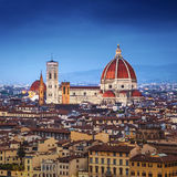 佛罗伦萨,中央寺院圣玛丽亚台尔菲奥雷 免版税库存照片