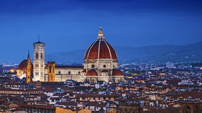 佛罗伦萨,中央寺院圣玛丽亚台尔菲奥雷 库存照片