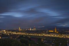 佛罗伦萨,城市的看法从Piazzale米开朗基罗的 免版税库存照片