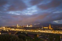 佛罗伦萨,城市的看法从Piazzale米开朗基罗的 免版税库存图片