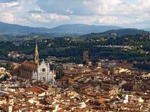 佛罗伦萨,意大利全景  免版税库存照片