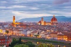 佛罗伦萨,意大利著名看法日落的 库存图片